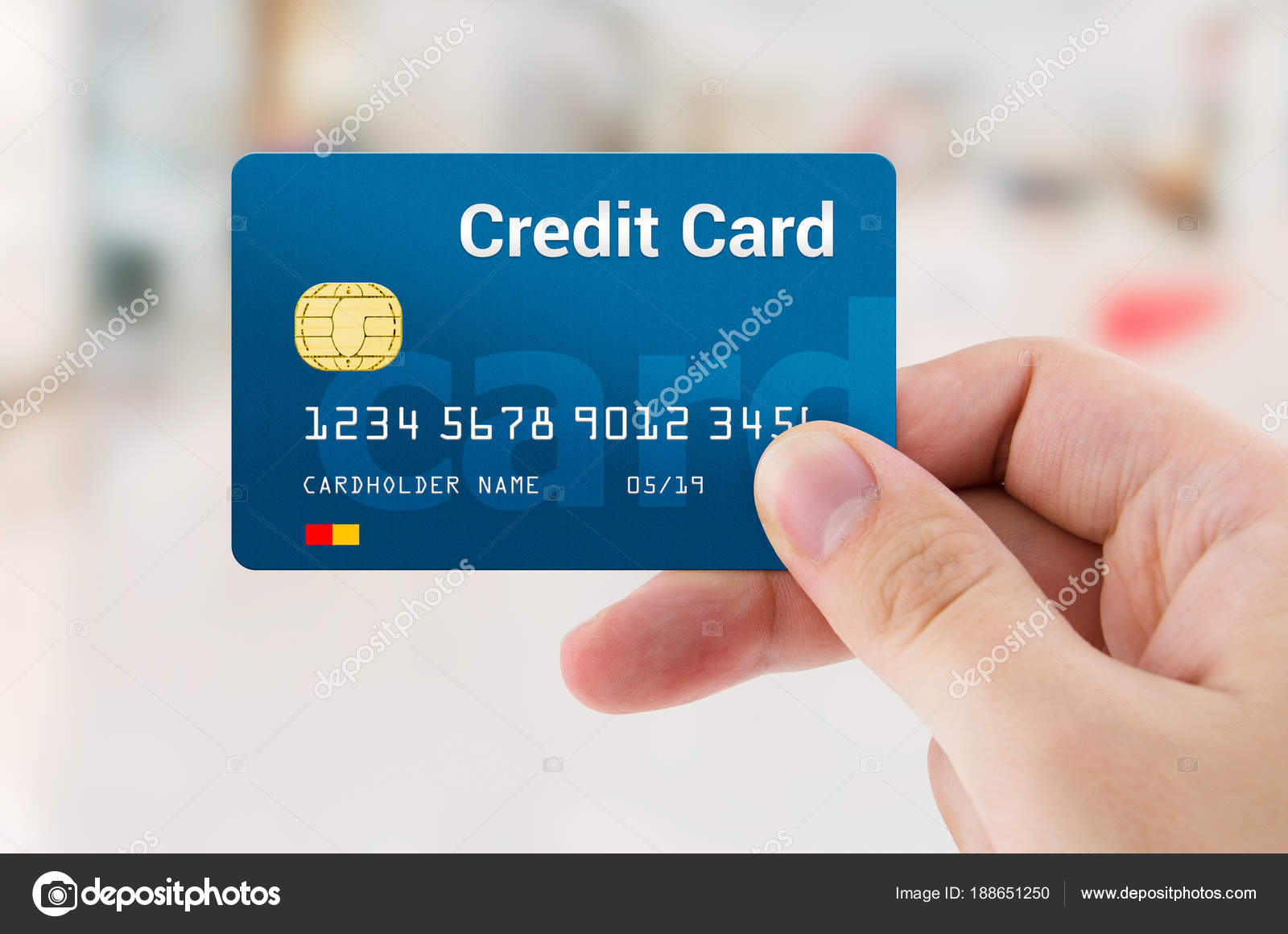 Man hand holding personal credit or debit card — Stock Photo ...