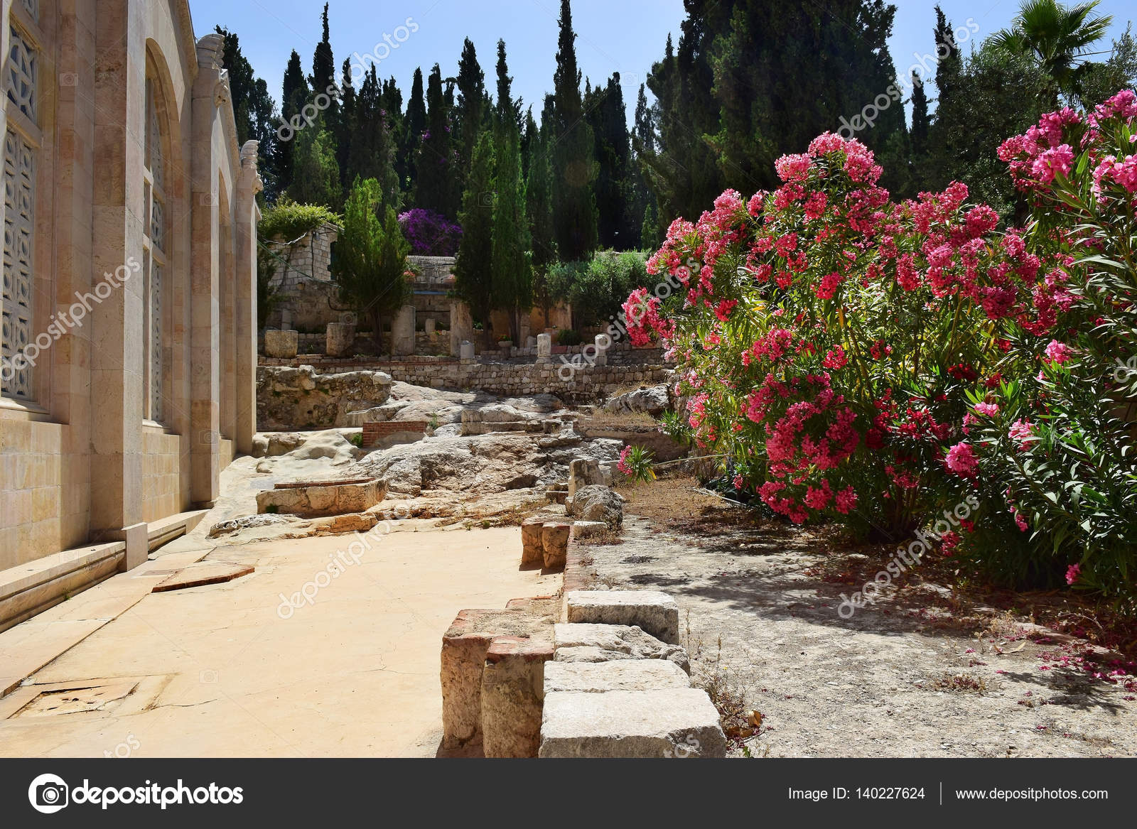 ancient excavations, Church of all Nations, Mount of Olives, Garden ...
