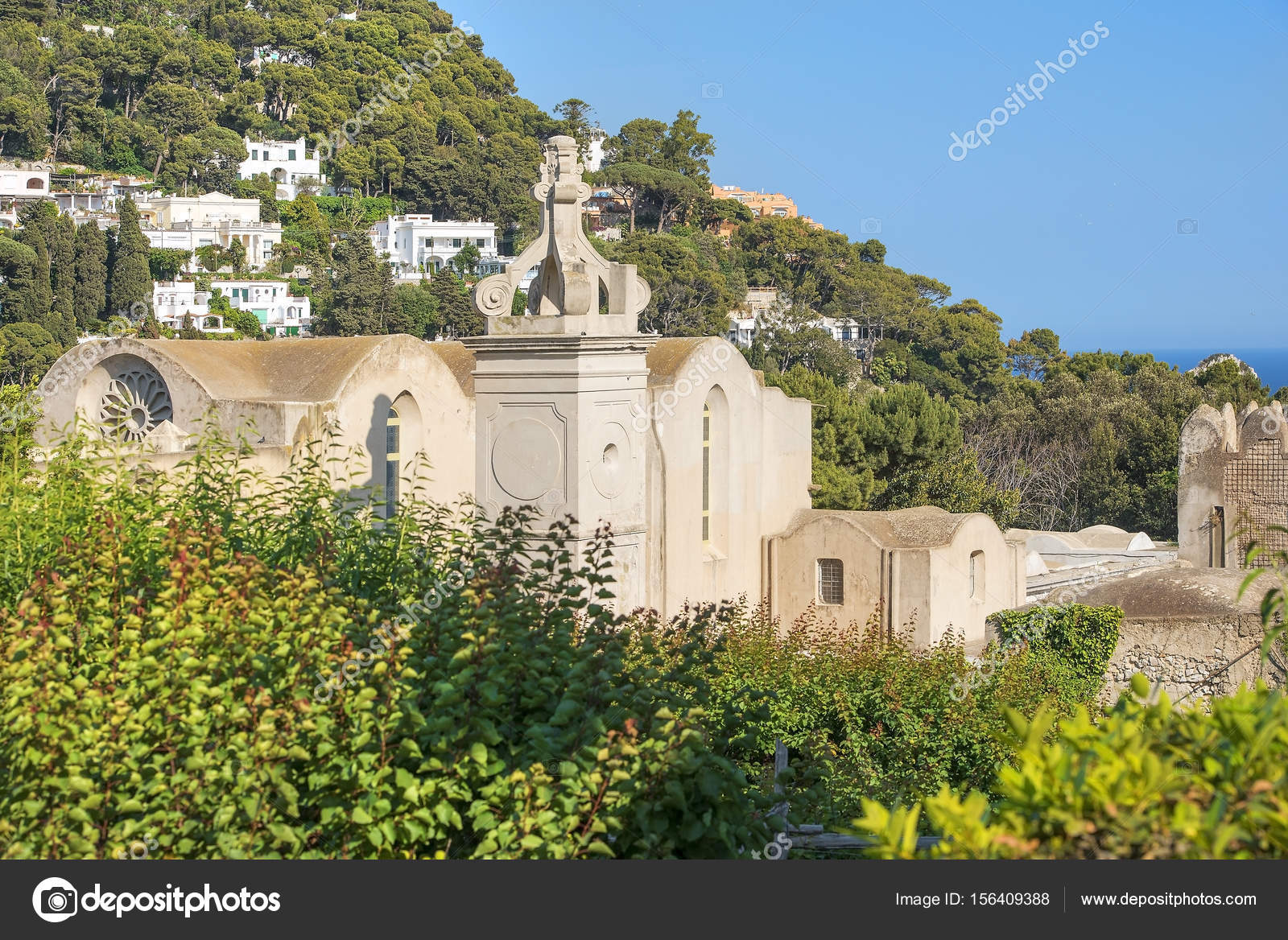 certosa di san giacomo kartause capri italien stockfoto irisphoto11 156409388. Black Bedroom Furniture Sets. Home Design Ideas