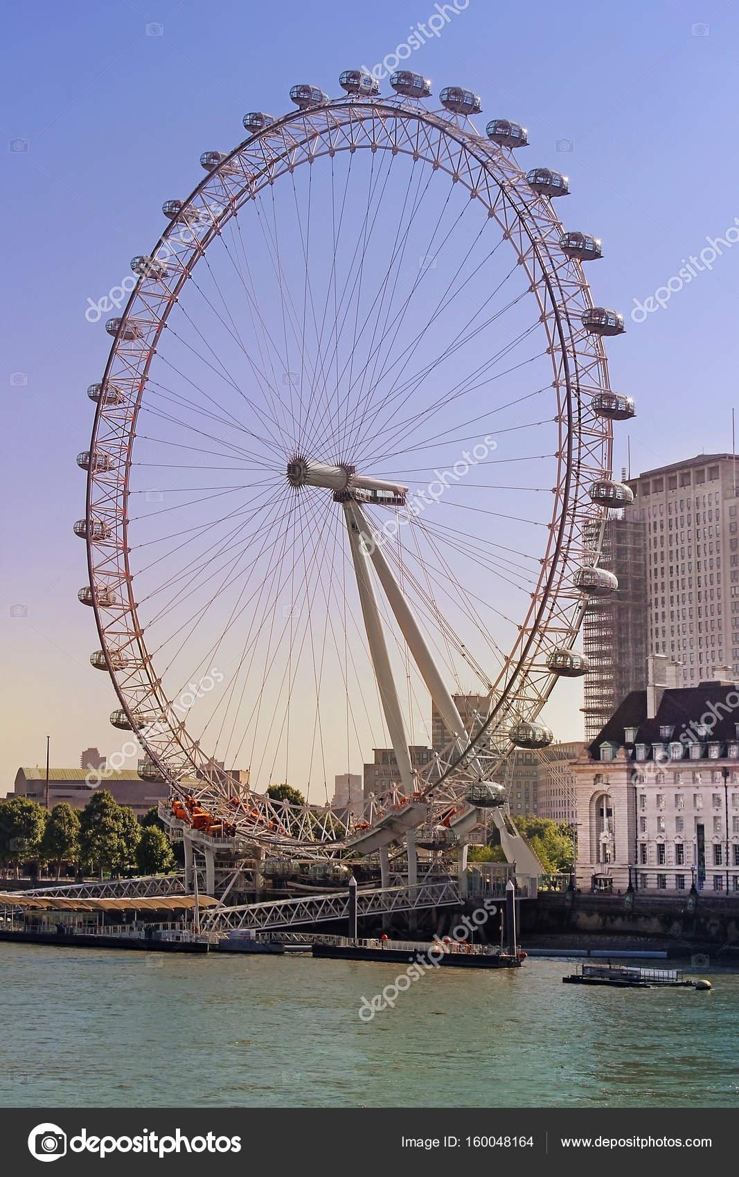 rueda de la fortuna London eye en Londres, Inglaterra — Foto ...