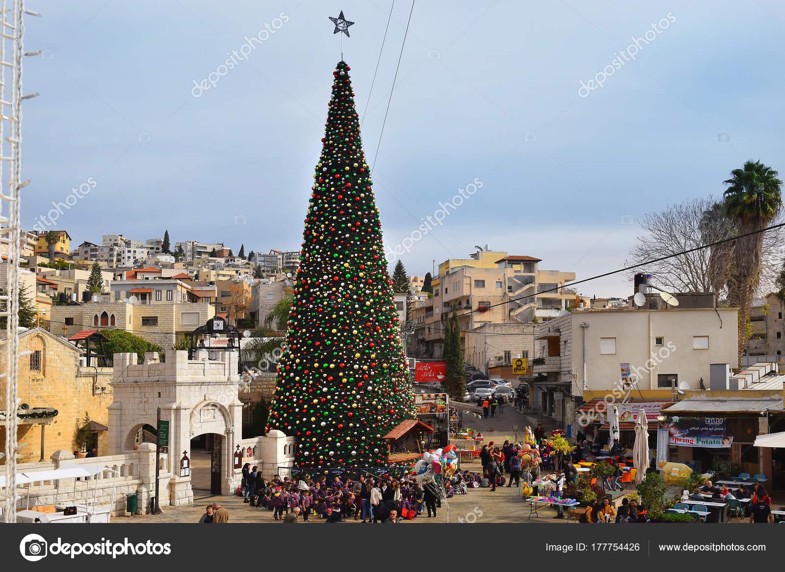 Greek Orthodox Christmas.Nazareth Israel December People Celebrate Christmas Greek