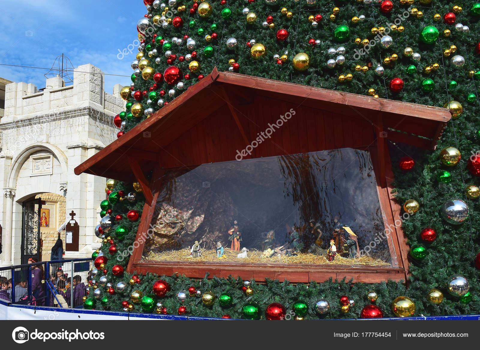 nazareth israel december people celebrate christmas greek orthodox church annunciation stock photo - Greek Orthodox Christmas