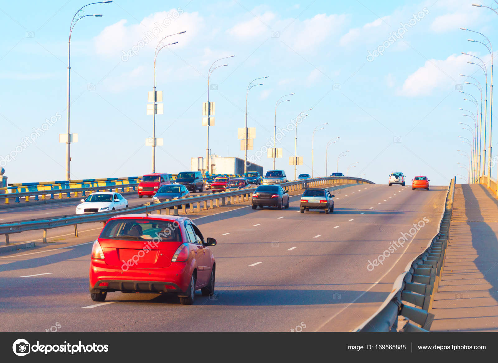 cars traveling on a wide expressway — Stock Photo © crisp0022 #169565888