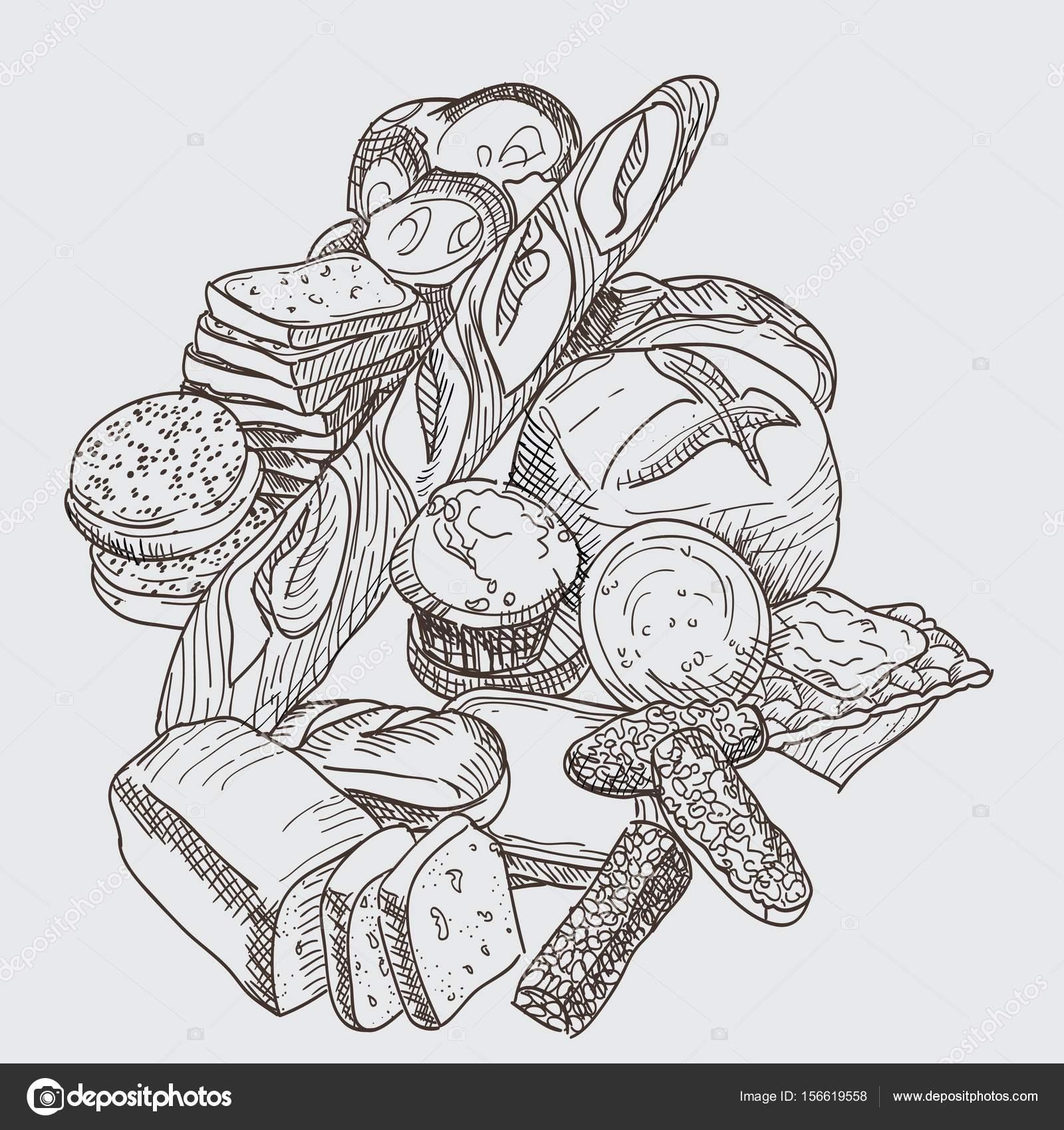 Pain De Dessin Main Pour Boulangeries Photographie D Gusieva