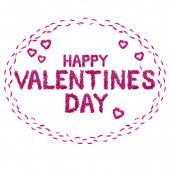 Aufschrift Happy Valentine s Day mit Pfingstrosenblüten auf weißem Hintergrund. isolieren