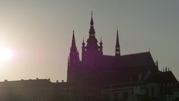Čas zanikla záběr katedrále svatých Víta, Václava a Vojtěcha, Praha, Česká republika