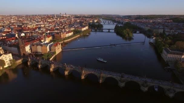 Prague aerial view with Charles Bridge, Czech Republic