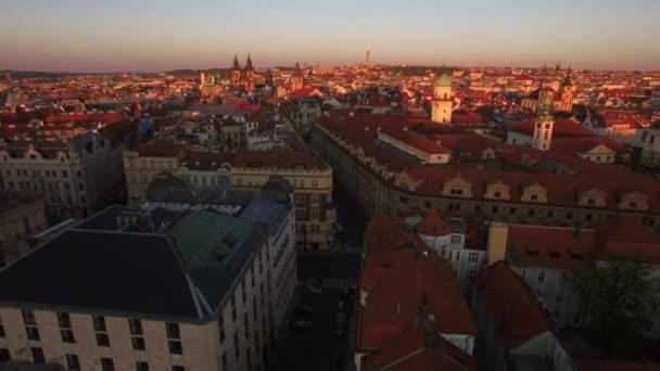 Praha a jeho historické centrum, letecký pohled