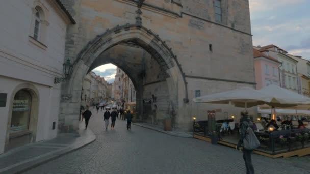 Menší města věže brány Karlův most