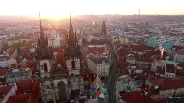 Letecký pohled na panoráma Prahy, Česká republika