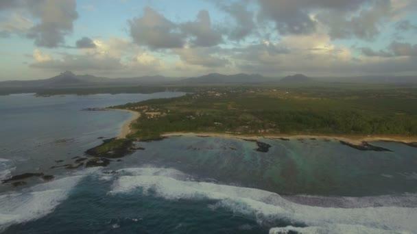 Létání nad Ostrov Mauritius a mělké vody