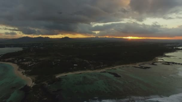 Panoráma, Mauritius Sziget, naplemente, légi nézetet