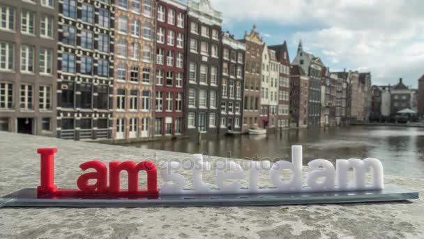 Timelapse a městě amsterdam slogan