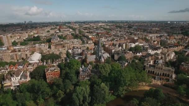 Panoráma města Amsterdamu, letecký pohled