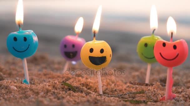Obrázek svíčky na pláži