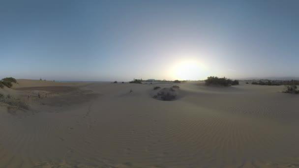 Písečných dun Gran Canaria při západu slunce