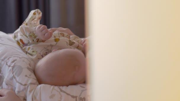 Breast feeding of a baby