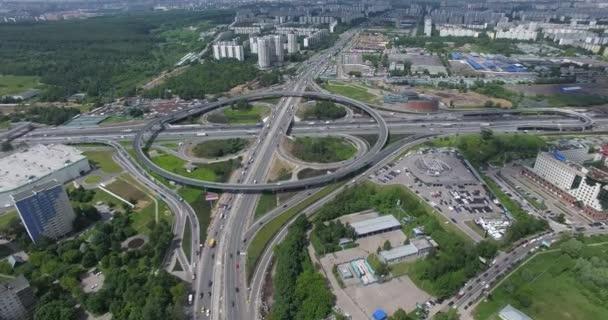 Provoz na Moskevské křižovatce, letecký pohled
