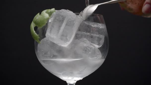 Limettenschalen, Eiswürfel, etwas Spritzigkeit
