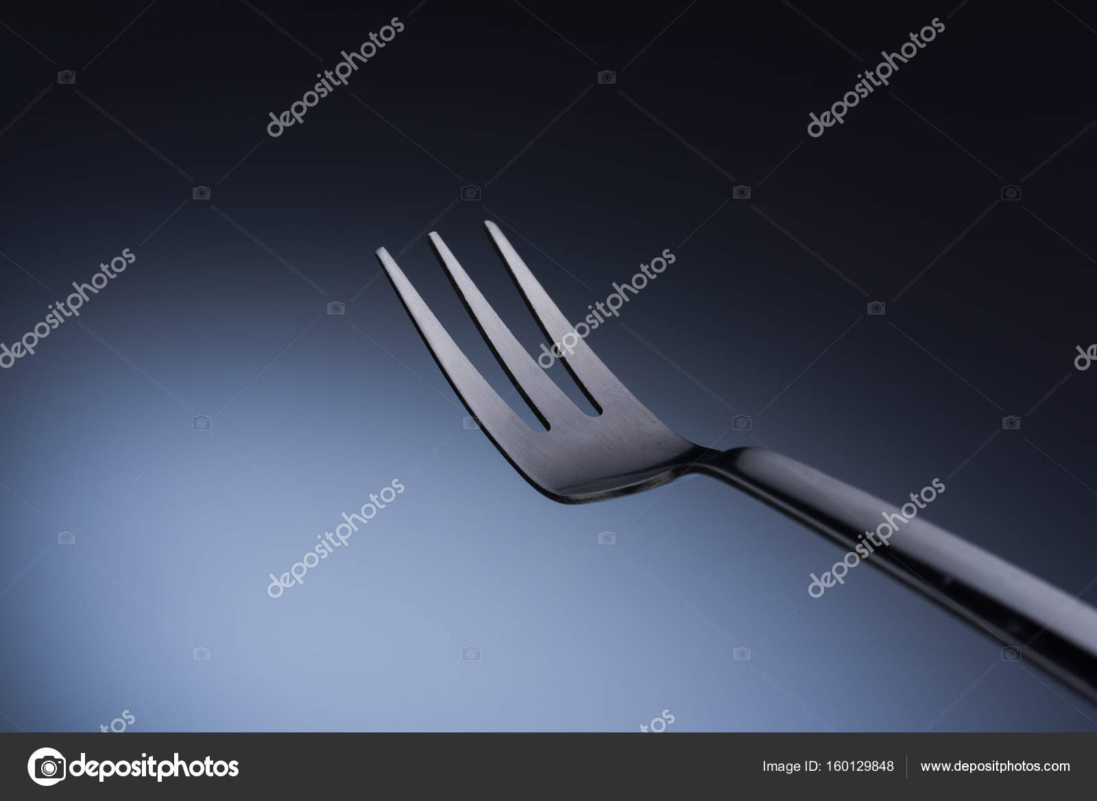 Fork in white background — Stock Photo © YMCPhoto #160129848