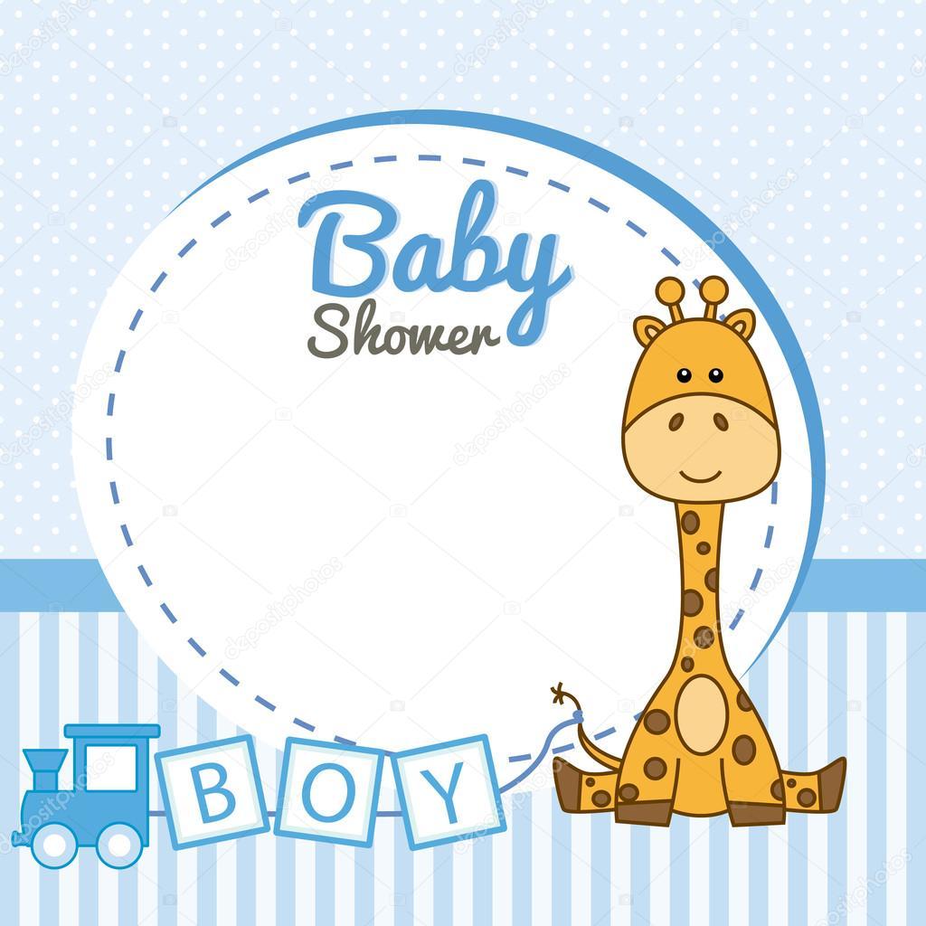 Jirafa de bebé marco — Vector de stock © sbego #124942464