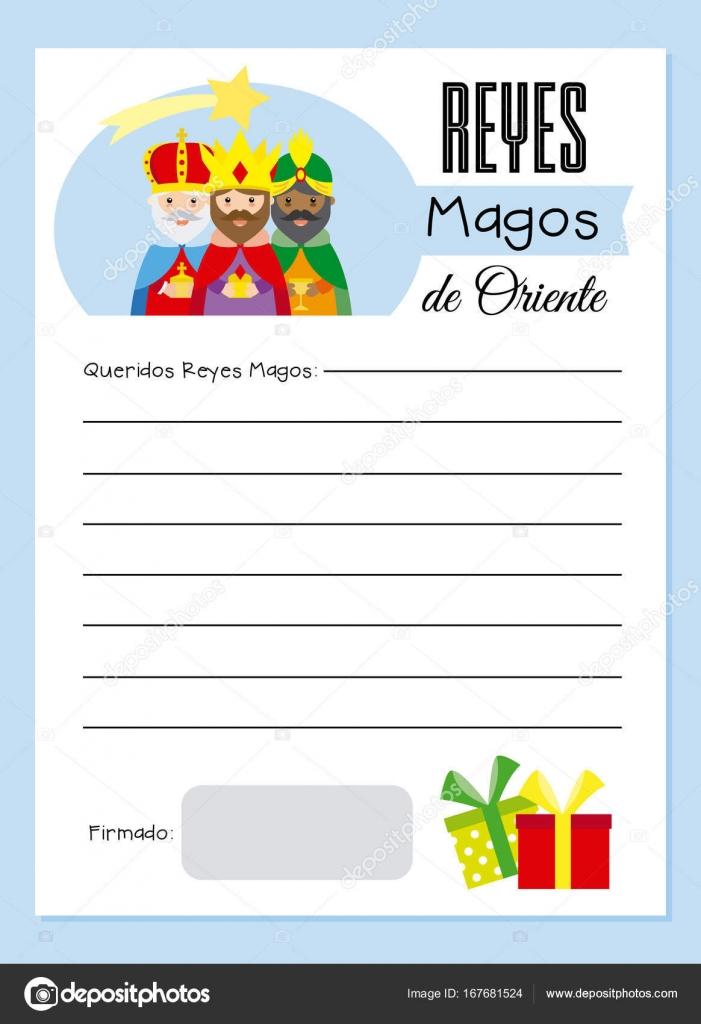 Lettre aux rois mages — Image vectorielle sbego © #167681524
