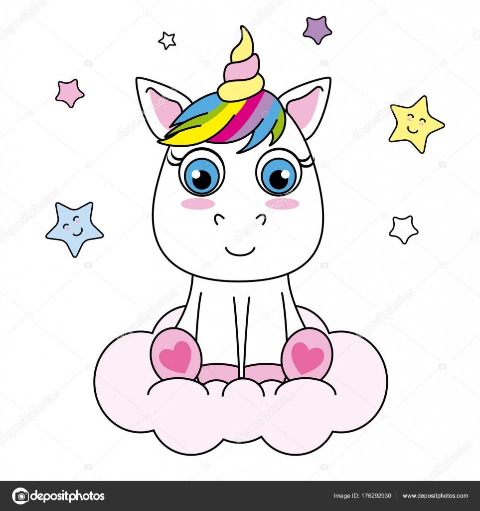 cute unicorn cartoon - HD963×1024