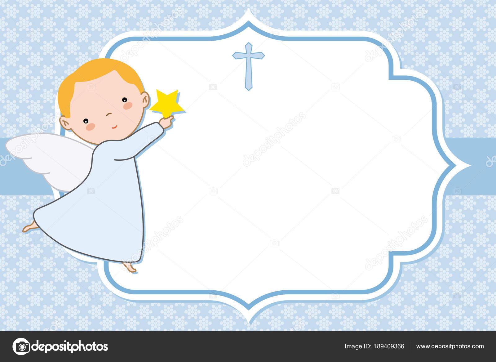 Niño Angel Tarjeta Bautizo Comunión