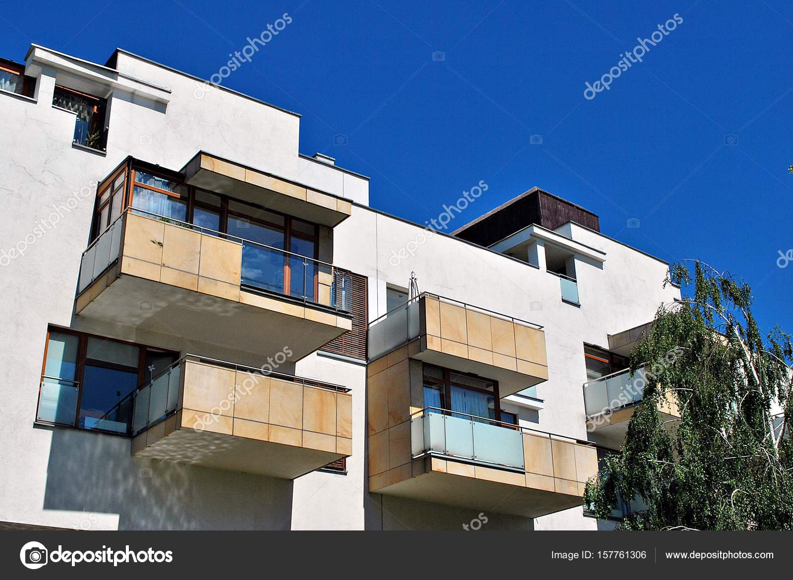 Modern Apartment Buildings Exteriors U2014 Stock Photo