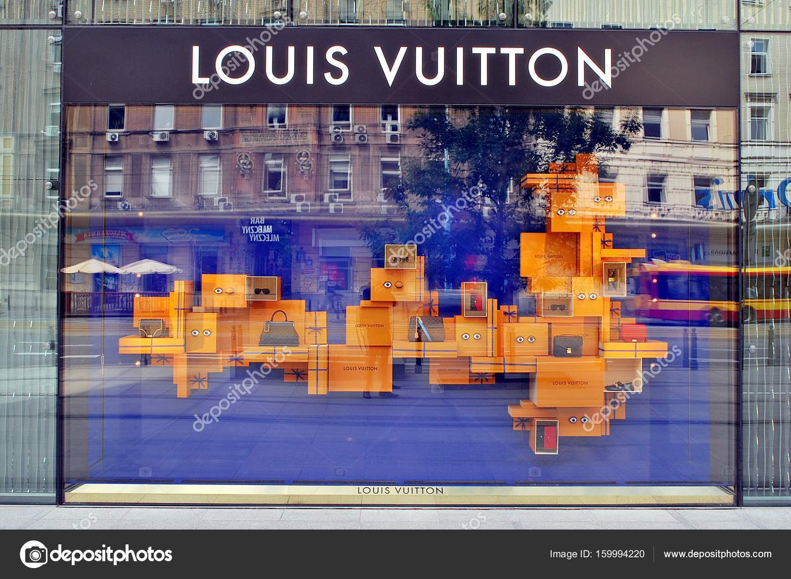 be895932d6 Louis Vuitton store. Shop locate in shopping mall Vitkac – Stock ...