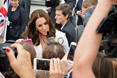 Kate Middleton among the crowds in Warsaw