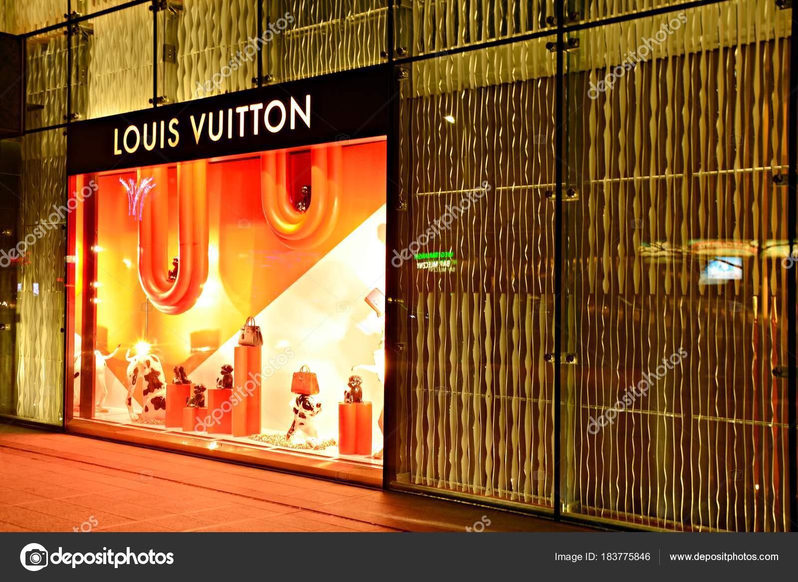 1ed3e7fa6e6f Варшава Польша Февраля 2018 Года Магазин Louis Vuitton Сумки Женщин–  Стоковая редакционная фотография