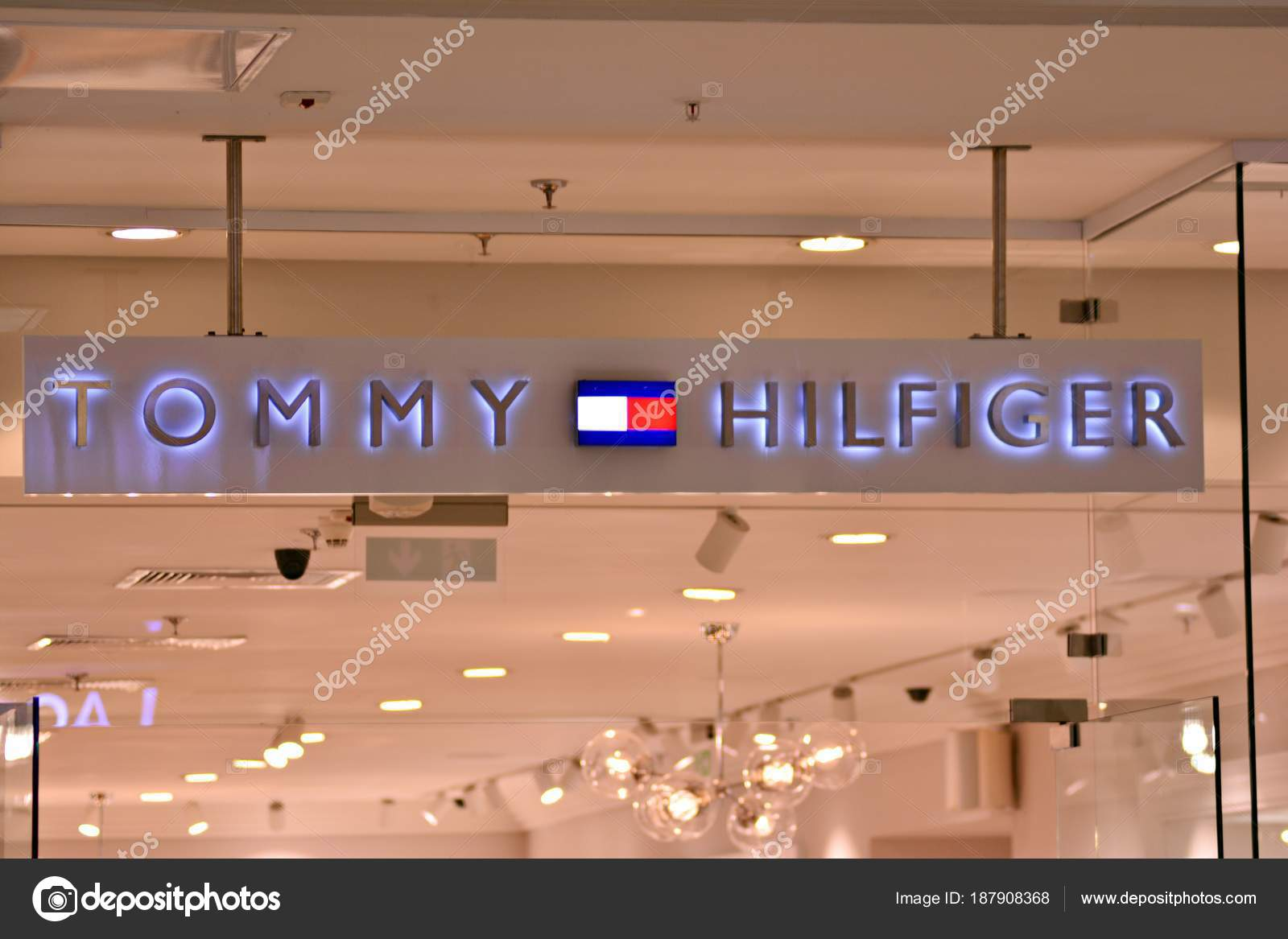 buy popular outlet amazing price Warsaw Poland March 2018 Sign Tommy Hilfiger Company ...