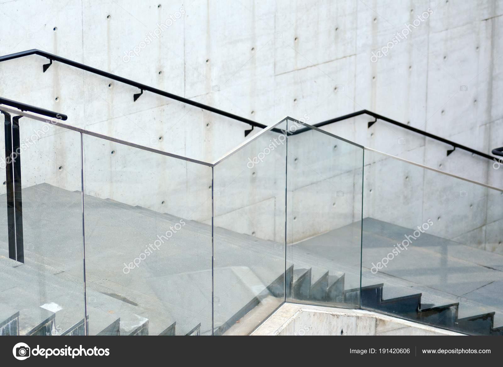 Steen beton trap detail van moderne architectuur u stockfoto