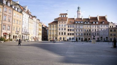 Warsaw, Poland. 17 March 2020. The streets and main places of remain deserted due to the coronavirus health emergency. The city empties itself of tourists and people. Stop coronavirus.