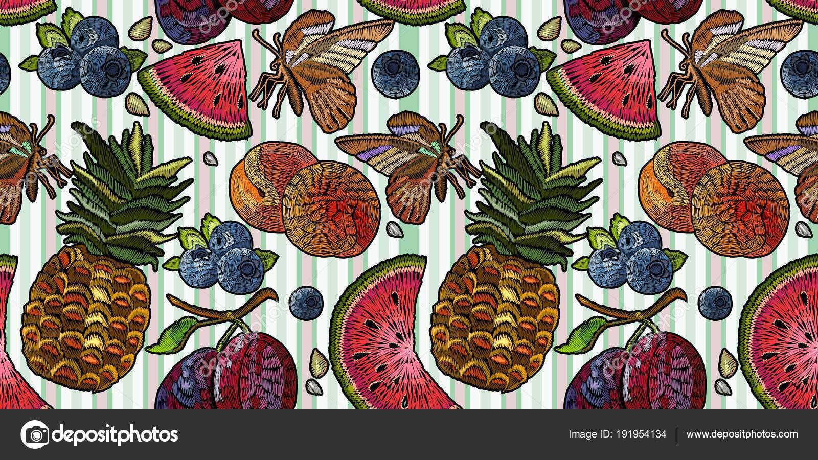 Bordado fruto de patrones sin fisuras. Bordado clásico — Archivo ...