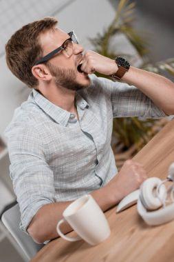 stressed caucasian businessman