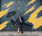 Fotografie Podnikatel s deštníkem