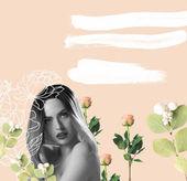 Fényképek gyönyörű meztelen nő Rózsaszín paróka, elszigetelt kék rózsaszín szűrővel