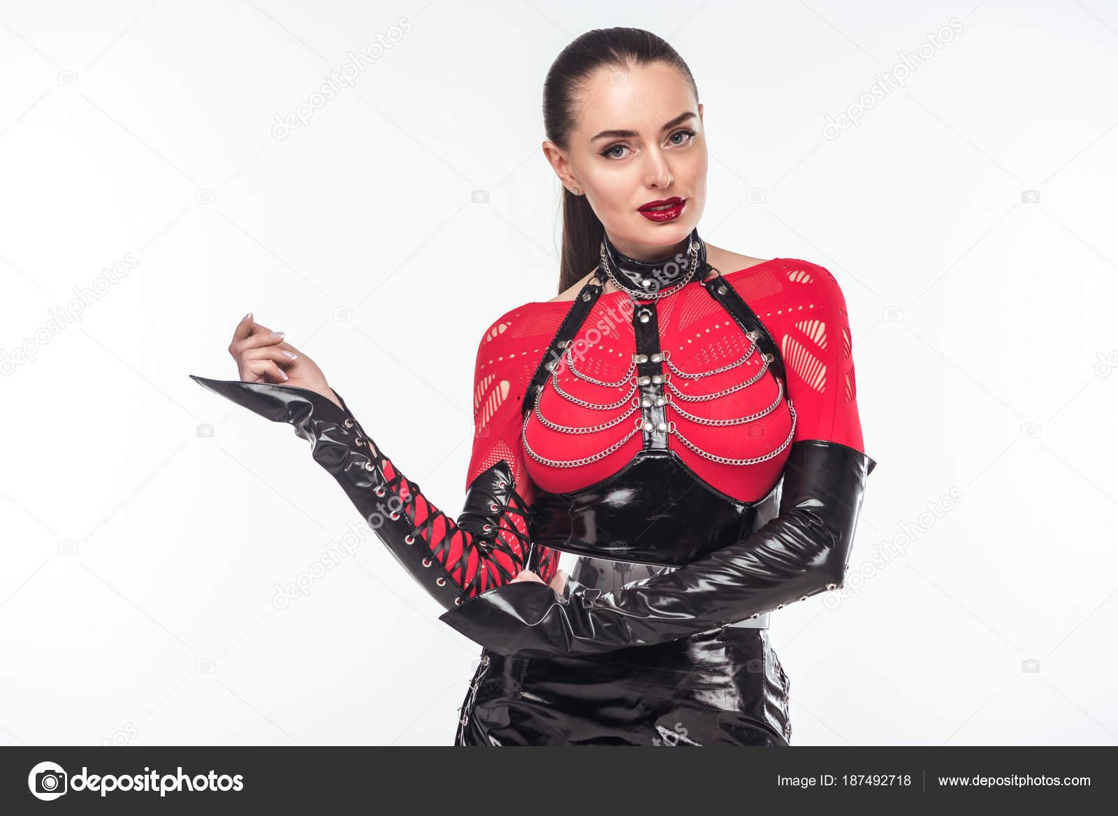 Девушки в кожаном костюме эро фото — 4