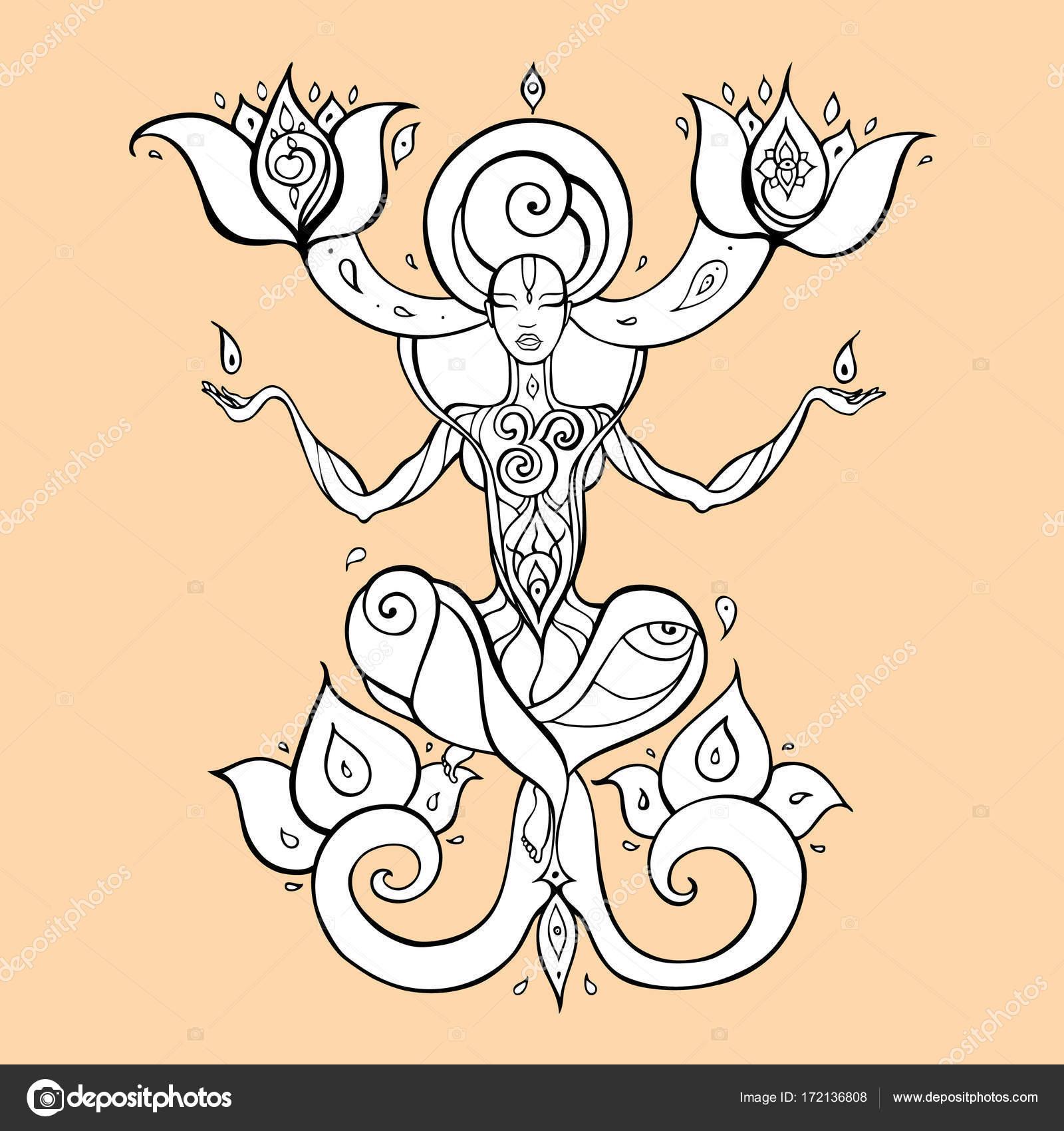 Meditation Yoga Silhouette Stock Vector C Katyaulitina 172136808