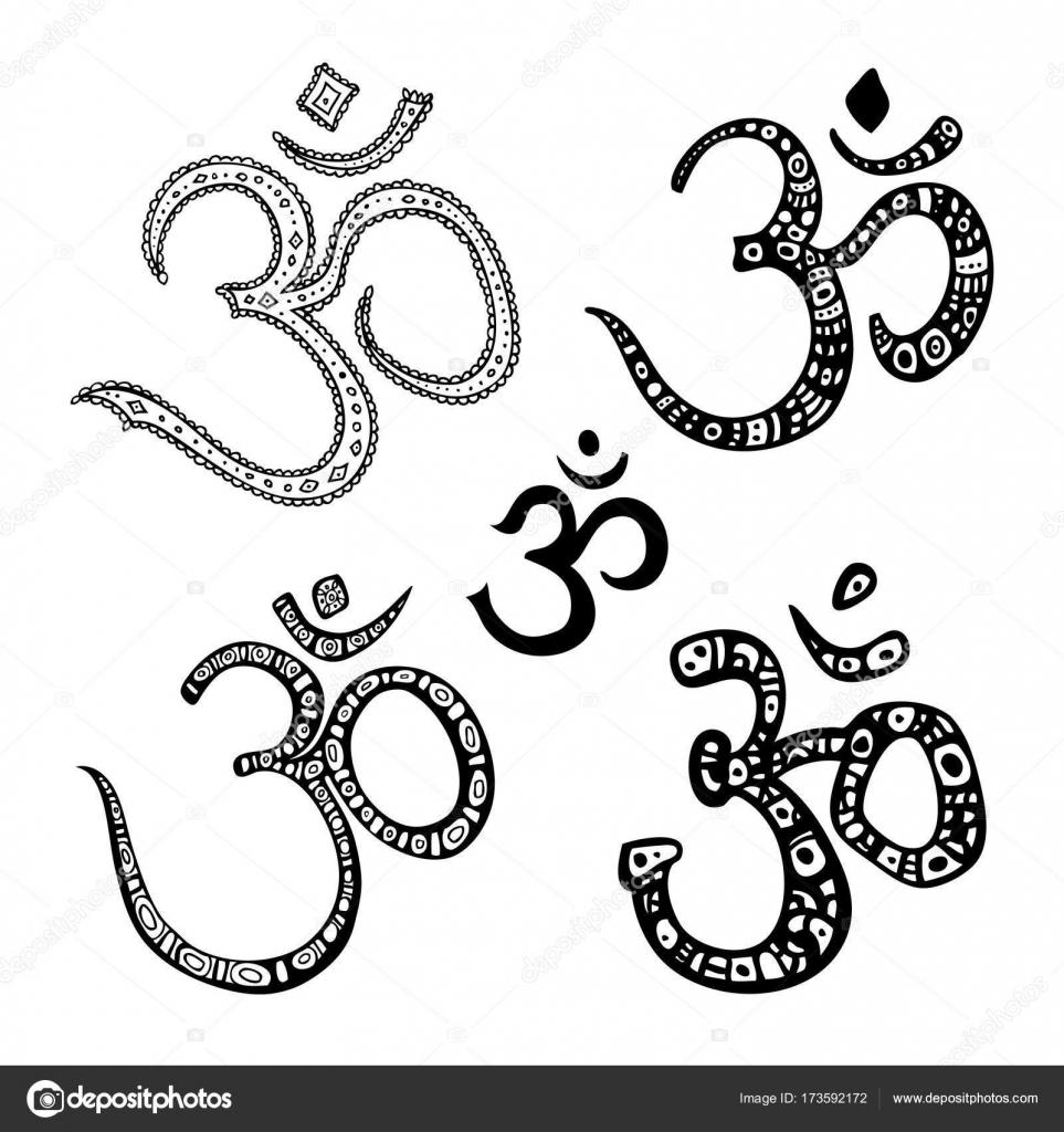 Om Symbol Aum Ohm Stock Vector Katyaulitina 173592172