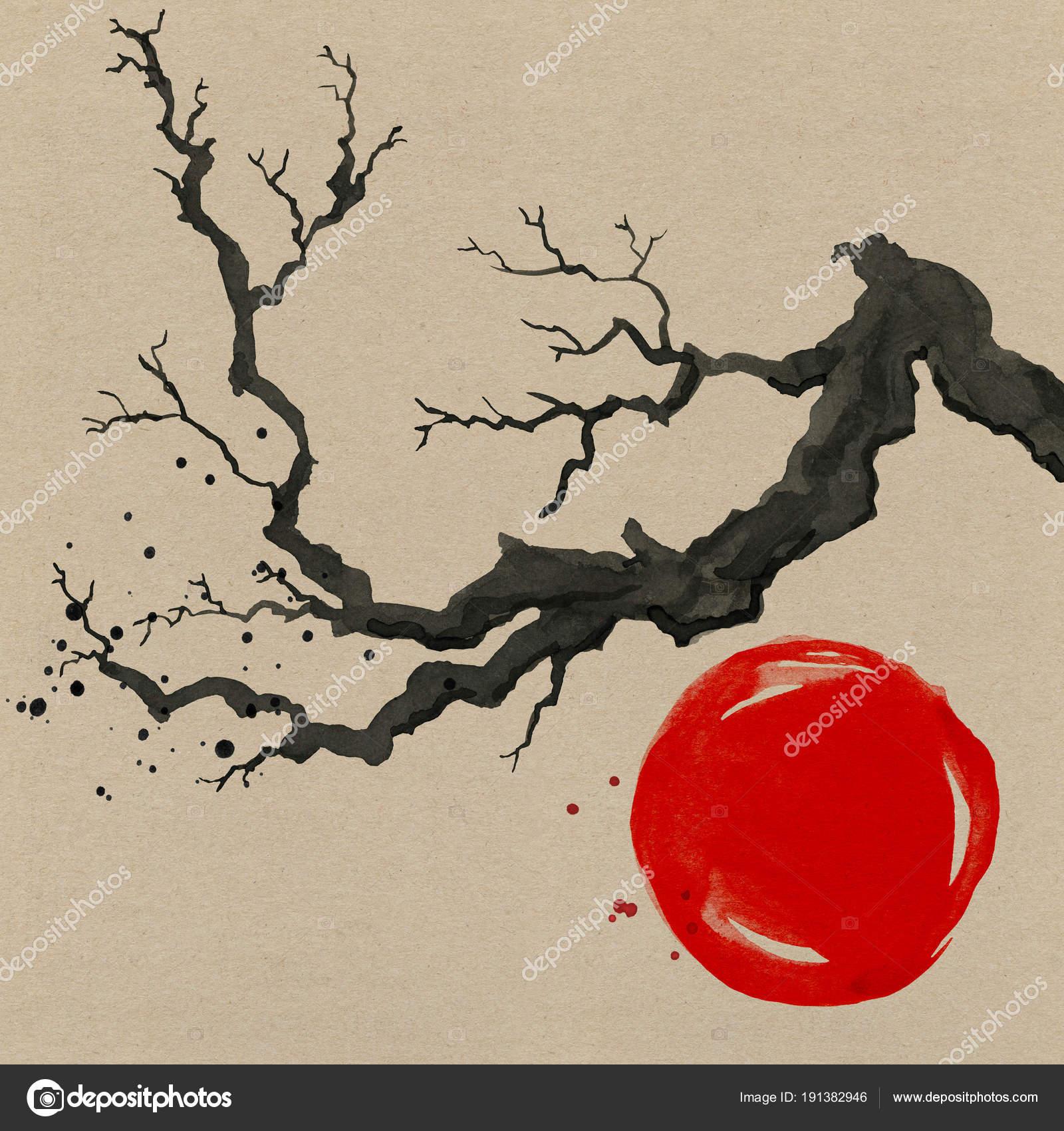 Stili e forme di pittura giapponese... Depositphotos_191382946-stock-photo-sakura-tree-in-japanese-style