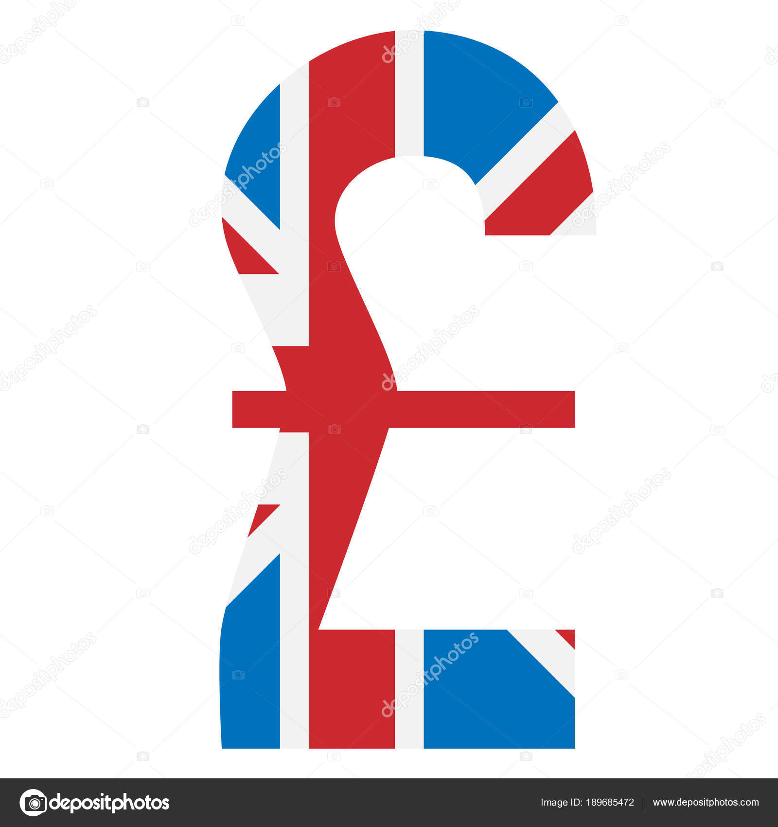 Pound Symbol With Great Britain Flag Background Stock Vector V