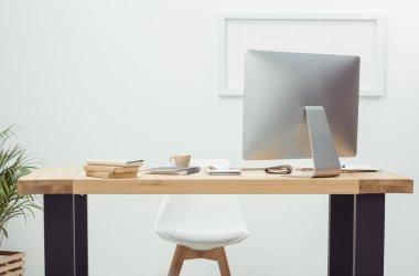 empty workplace in office