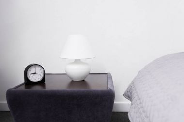 lamp and alarm clock