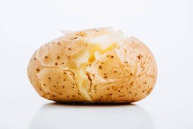delicious jacket potato on white background