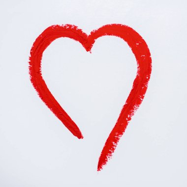 Red drawn heart isolated on white stock vector