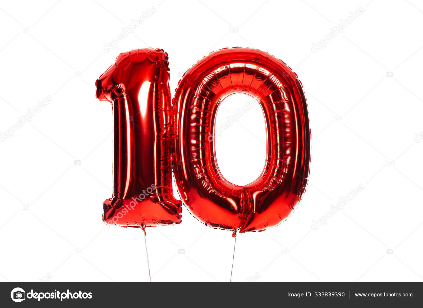 Number Red Balloons Isolated White Stock Photo by ©AndrewLozovyi ...