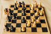Fotografie Chess board set during the game